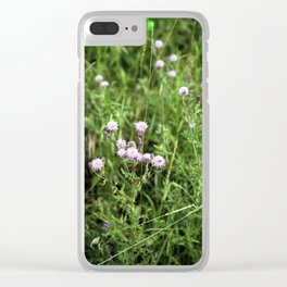 Canada Thistle Clear iPhone Case