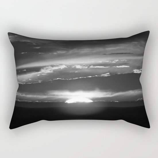 Black and White Delight Rectangular Pillow