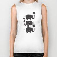 elephants Biker Tanks featuring ELEPHANTS by Matthew Taylor Wilson