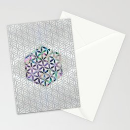 Flower of life Abalone shell on pearl Stationery Cards