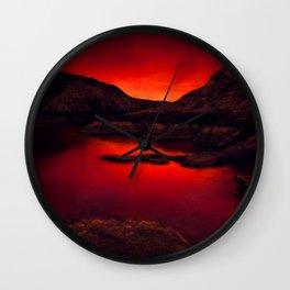 Red Lake Wall Clock