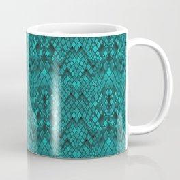 A snake's skin . Turquoise Coffee Mug