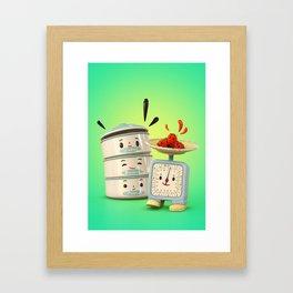 Happy Balance Framed Art Print