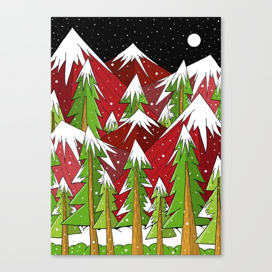 Xmas Mounts Canvas Print