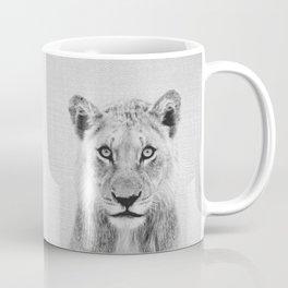 Lioness II - Black & White Coffee Mug