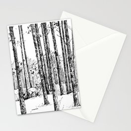 A fox in pine forest Stationery Cards