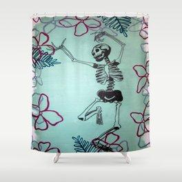 Dancing Bones Shower Curtain