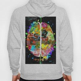 Human Brain Black Hoody