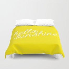 Hello Sunshine Script Duvet Cover
