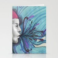 mouth Stationery Cards featuring Mouth by Mighty Truth