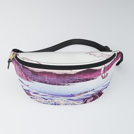 The GREAT Wave : Violet Purple Fanny Pack