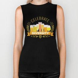 Celebrate Diversity - Beer Flavors Taste Biker Tank