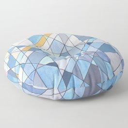 Triangle Pattern no.17 Light Blues Floor Pillow