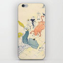 """Henri de Toulouse-Lautrec """"La Vache Enragée (The Mad Cow)"""" iPhone Skin"""