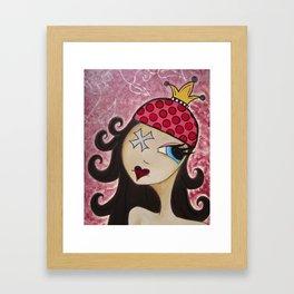 A handmade CROWN  Framed Art Print