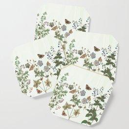 The fragility of living - botanical illustration Coaster