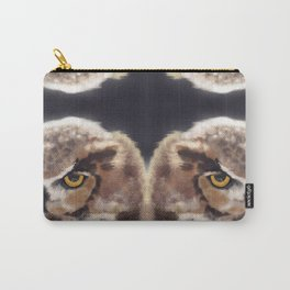 The Serious Horned Owl Carry-All Pouch
