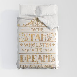 To the Stars - White Comforters