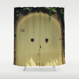 door in alacati izmir Shower Curtain