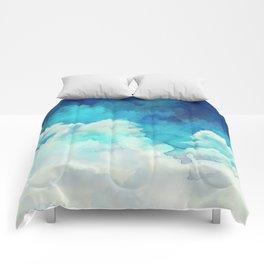 Absract Watercolor Clouds Comforters