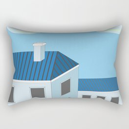 Blue roofs Rectangular Pillow