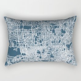 Tehran Blueprint Street Map, Tehran Colour Map Prints Rectangular Pillow