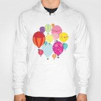 hot air balloons Hoodies featuring Hot air balloons by Tat Georgieva
