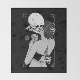 Love and Death Throw Blanket
