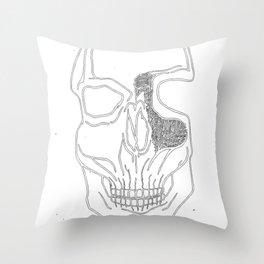 """Brains Brewing"" Skull Design by Warwick.Art Throw Pillow"