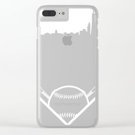 No Plate Like Home San Francisco 415 Baseball Design product Clear iPhone Case