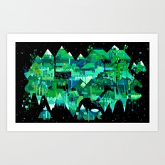 Order of Nature - geometric acrylic landscape painting Art Print