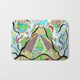 Cosmic Pyramids Bath Mat
