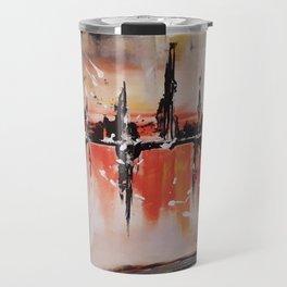 City on fire Travel Mug