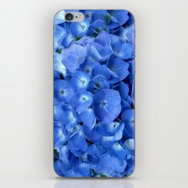 Gorgeous Baby Blue Hydrangeas  Floral Art iPhone Skin
