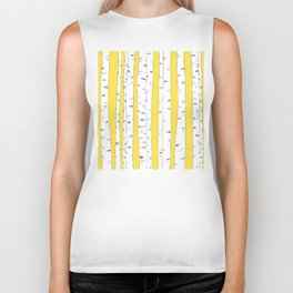 Aspen Forest - Yellow Biker Tank