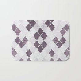 Moroccan Scalloped Flower Plum Bath Mat