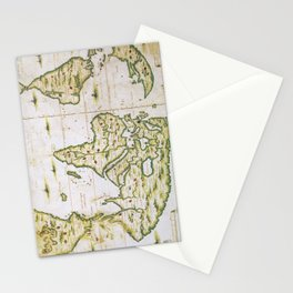 Vintage Map of The World (1566) Stationery Cards