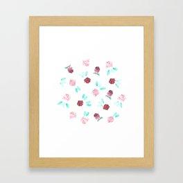 Clover Flowers Framed Art Print