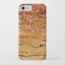 Wooden Wireframe iPhone Case
