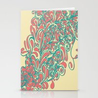 coral Stationery Cards featuring Coral  by LindsayMichelle