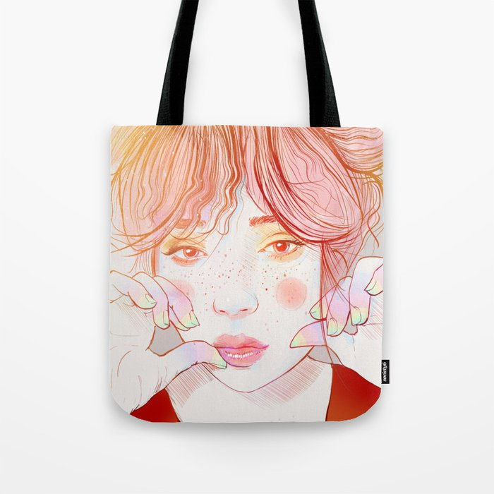 Colorful face Tote Bag