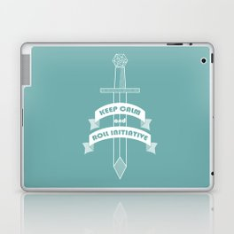 Keep calm and roll initiative Laptop & iPad Skin