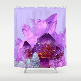 VIBRANT PURPLE AMETHYST CRYSTALS Shower Curtain