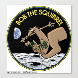 Bob the Squirrel to the Moon Canvas Print