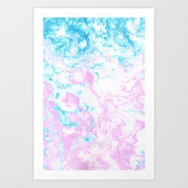 Marbling Art Print