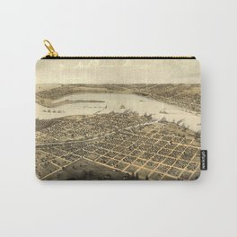 Vintage Pictorial Map of Port Huron MI (1867) Carry-All Pouch