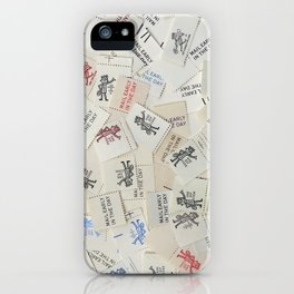 Vintage Postal Ephemera - Mr. Zip iPhone Case