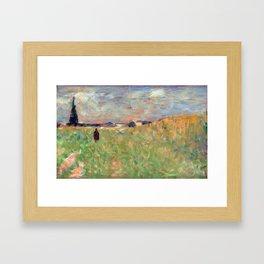 Georges Seurat A Summer Landscape Framed Art Print