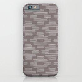 Gray Basketweave Pattern iPhone Case