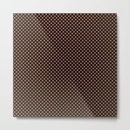 Black and Hazel Polka Dots Metal Print